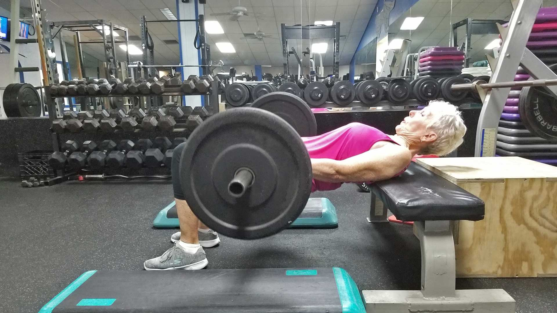 Mature athlete training at a gym in Apollo Beach, FL.