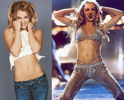 Brittney Spears and her Ab tranfomation