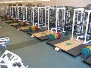 Weight room in Apollo Beach, FL.